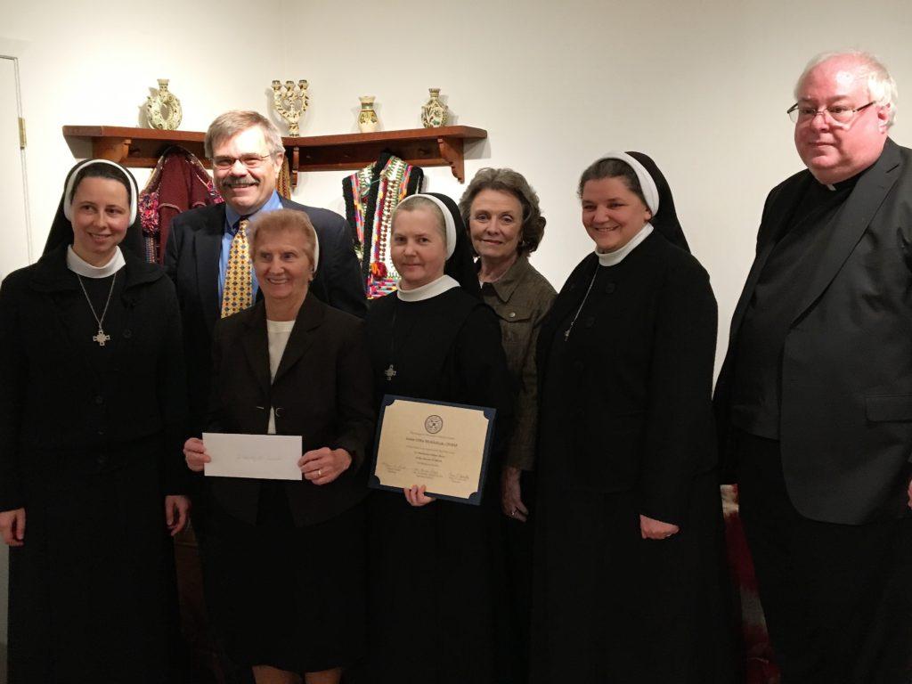 Sister Olha Mykhaliuk receives LUC Burse Award